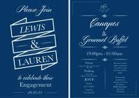 Graphic Design Inscrição do Concurso Nº7 para DESIGN MY ENGAGEMENT PARTY INVITATIONS