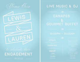 #8 for DESIGN MY ENGAGEMENT PARTY INVITATIONS by SimonMerritt