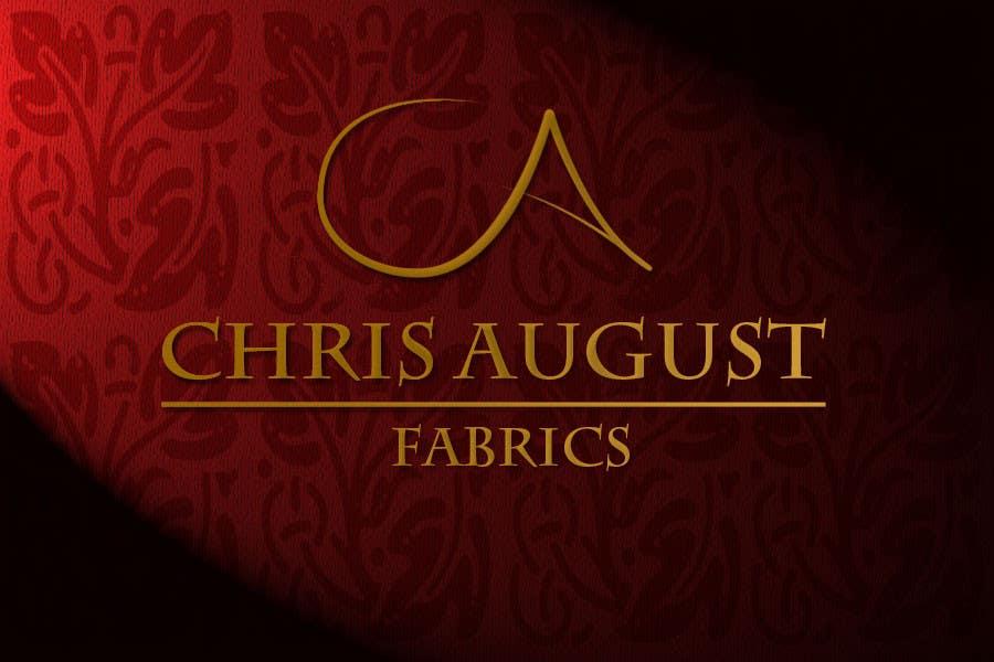 #166 for Logo Design for Chris August Fabrics by GlenTimms
