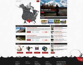 ProliSoft tarafından Design a Website Mockup for Sport Fish Junkies için no 15