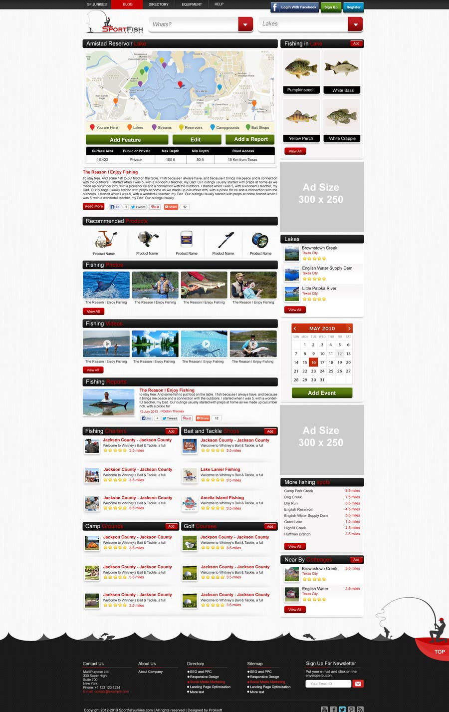 Kilpailutyö #24 kilpailussa Design a Website Mockup for Sport Fish Junkies