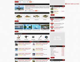 nº 28 pour Design a Website Mockup for Sport Fish Junkies par ProliSoft
