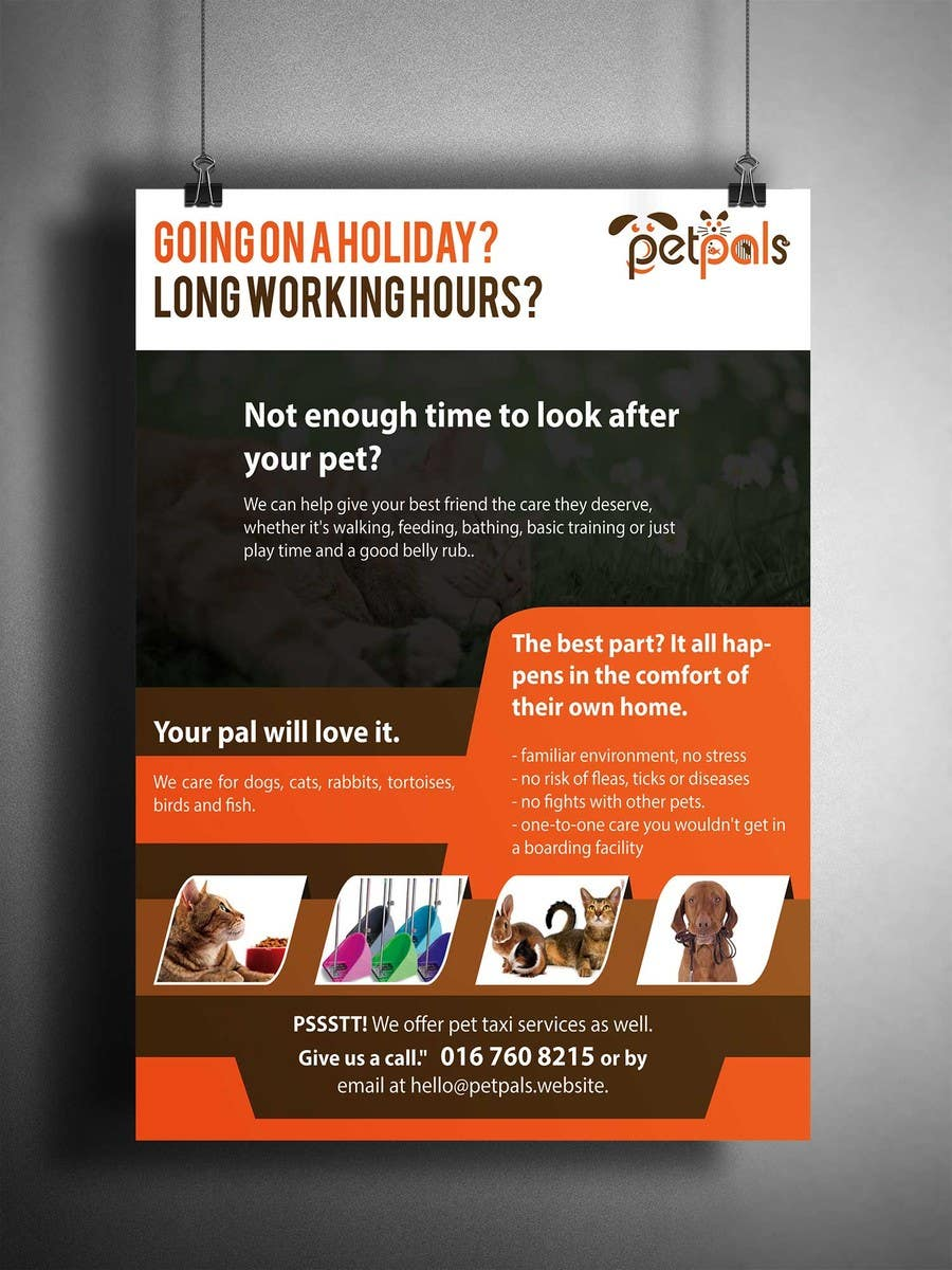 design a flyer for a pet sitting business lancer 23 for design a flyer for a pet sitting business by siambd014