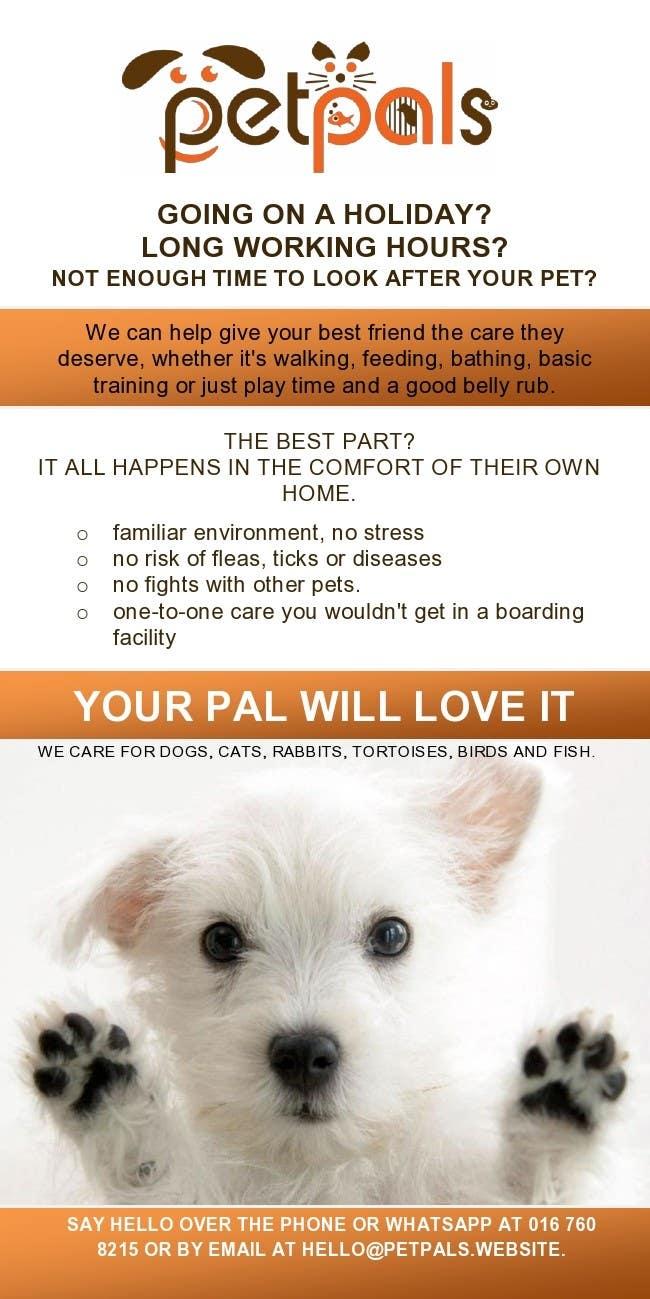 design a flyer for a pet sitting business lancer 28 for design a flyer for a pet sitting business by mthmb