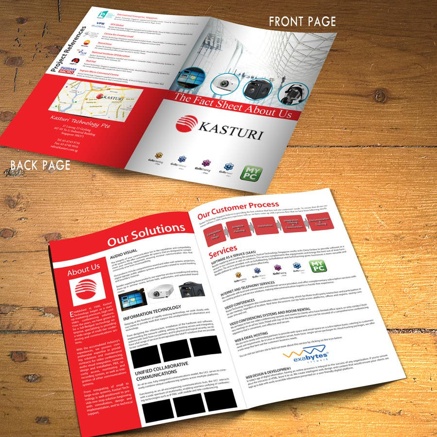 #1 for Company Profile Data Sheet Design Competition by xtreemsteel