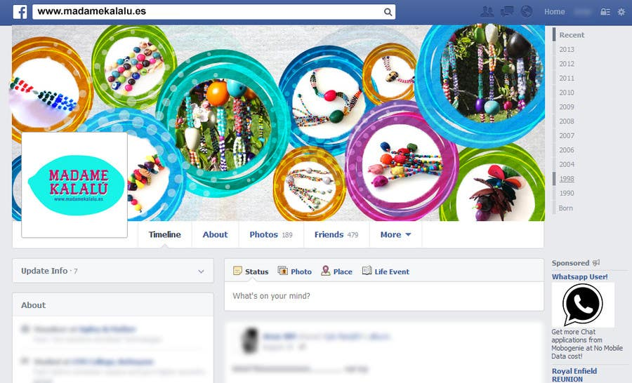 Entry #17 by arunnm89 for Create facebook page template for
