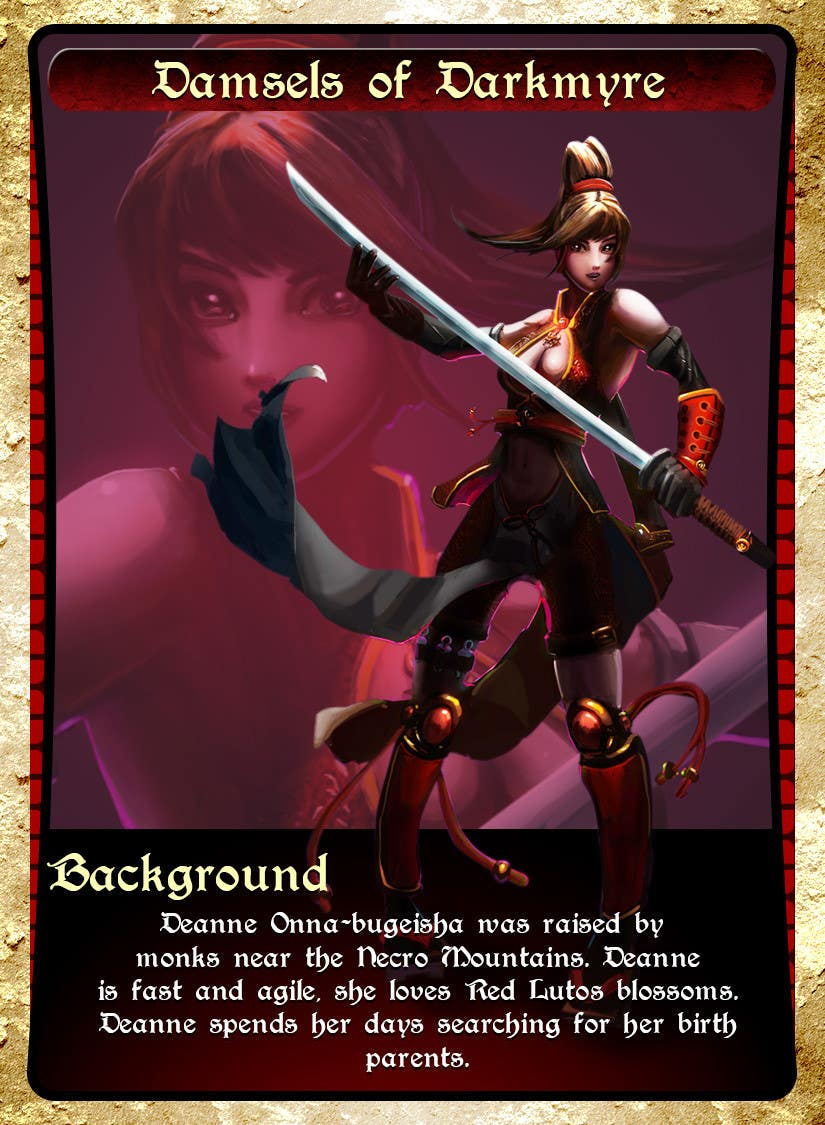 #19 for Re-design this game card front and back. by fishtee