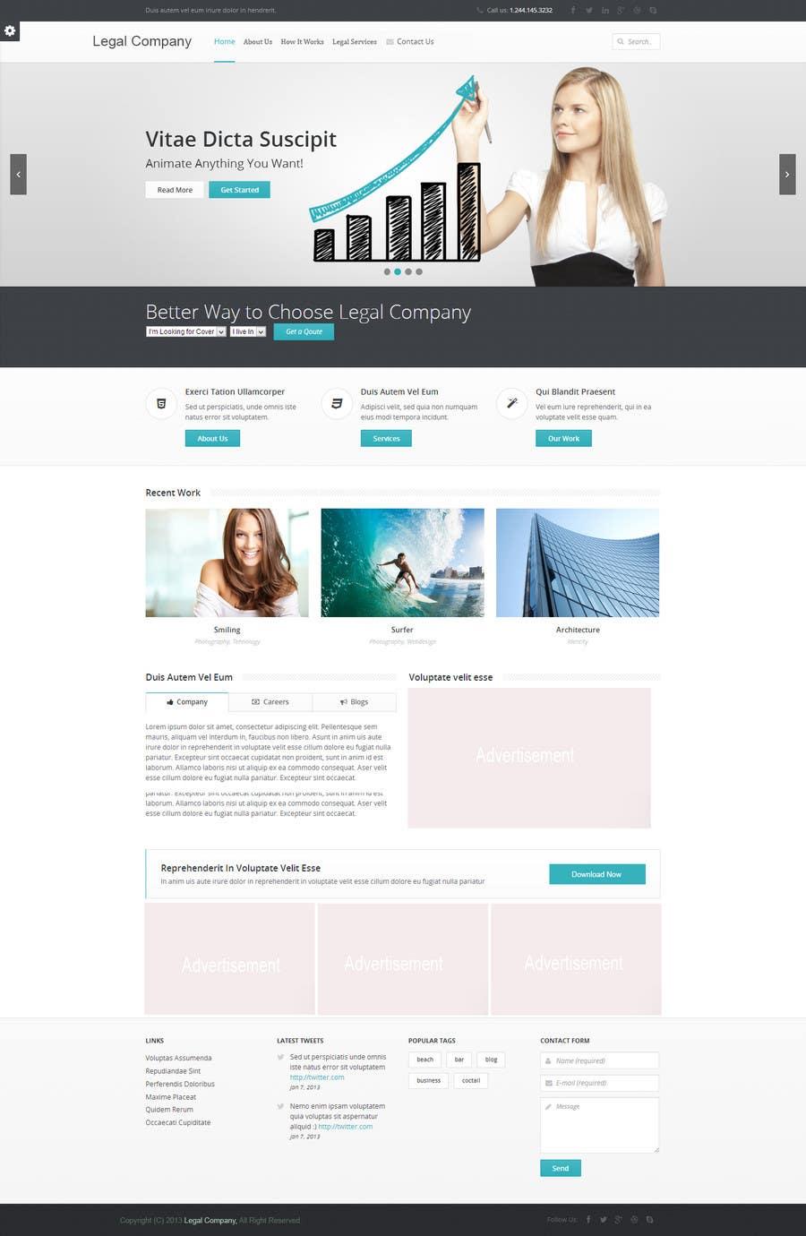 #11 for Create a Wordpress Template for Garage Door Guys responsive website by jamshaidrazaCG
