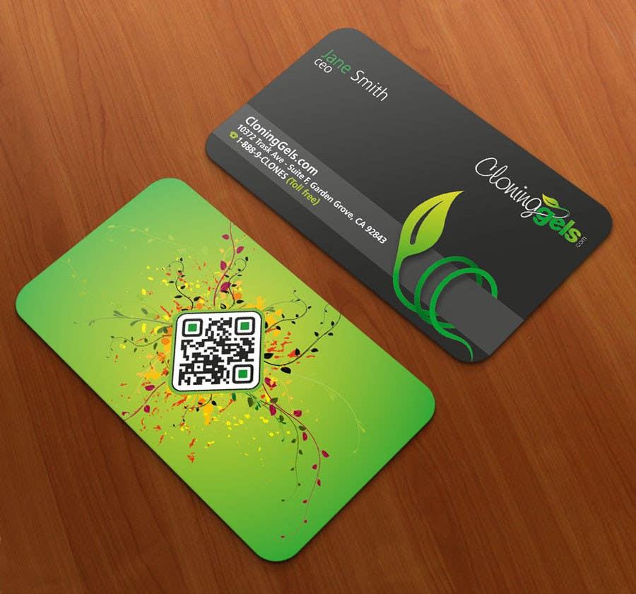 Konkurrenceindlæg #2 for Design a Business Card for CloningGels[dot]com