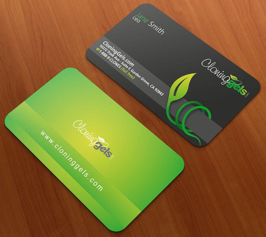Konkurrenceindlæg #6 for Design a Business Card for CloningGels[dot]com