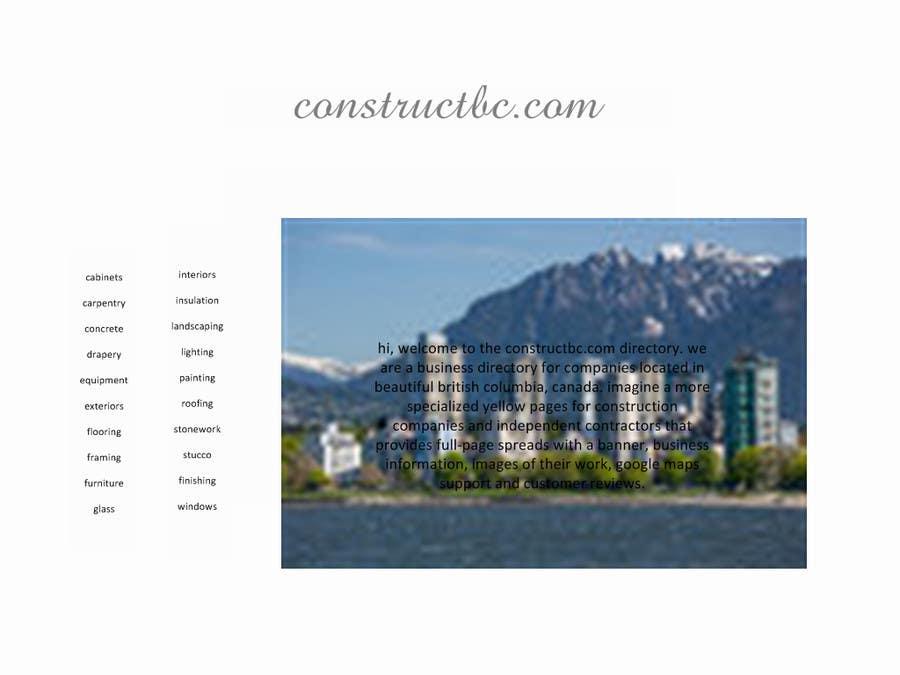 Bài tham dự cuộc thi #                                        3                                      cho                                         Design a Website Mockup for constructbc.com