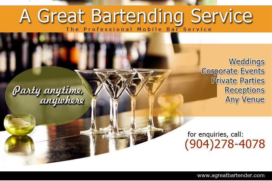 #71 for Design a Flyer for Catering and a Bartending Business - Future Work Needed Also by arteastik