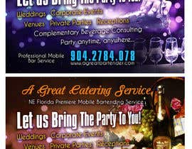 #28 for Design a Flyer for Catering and a Bartending Business - Future Work Needed Also af b74design