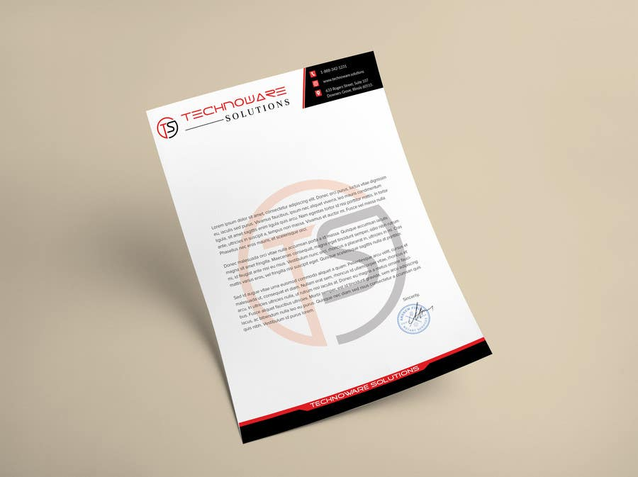 entry 23 by adarshdk for design cool professional letterhead