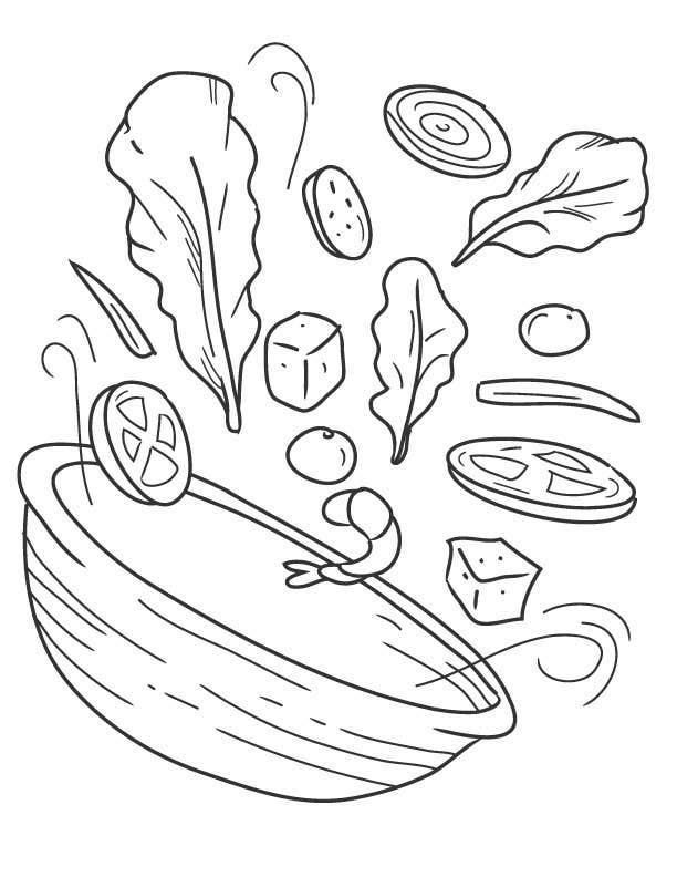 Line Drawing Food : Entry by nonie for food line drawings freelancer