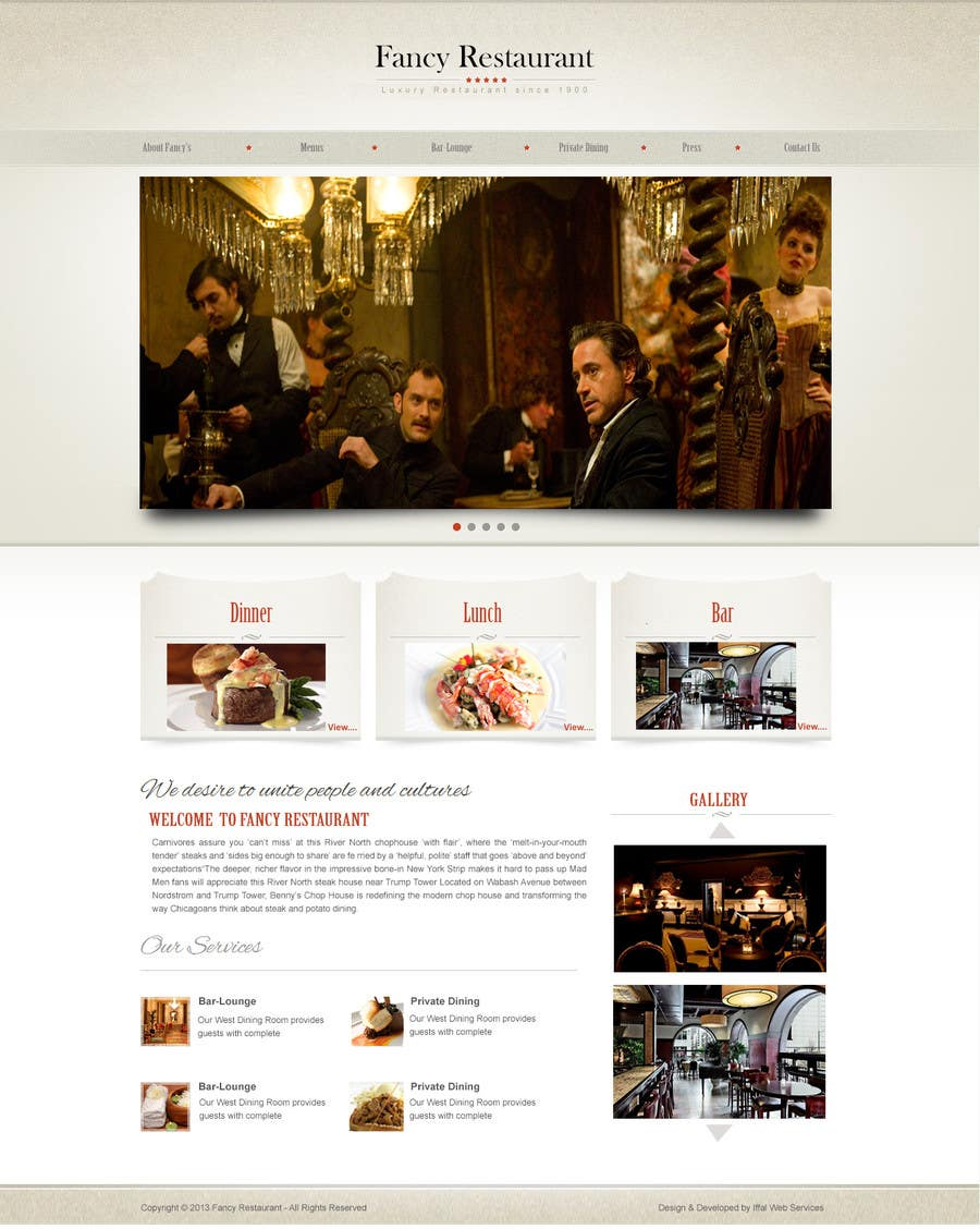 #54 for Single Page WebSite Template by iffal
