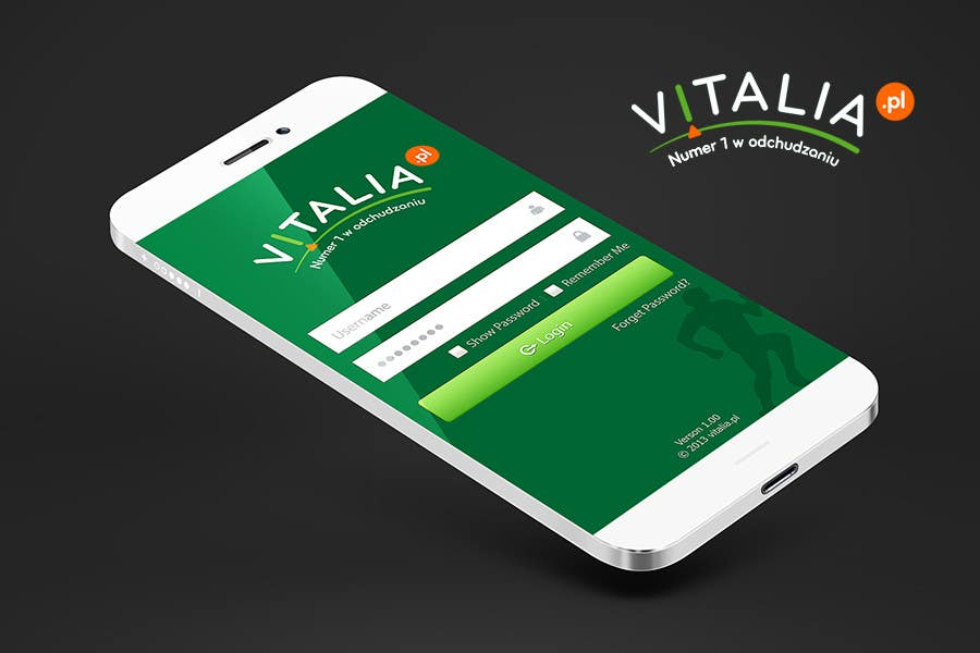 "#121 for Design for mobile app ""Vitalia tracker"" (design only) by JustLogoz"