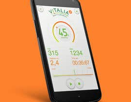 "nº 78 pour Design for mobile app ""Vitalia tracker"" (design only) par mekro1"