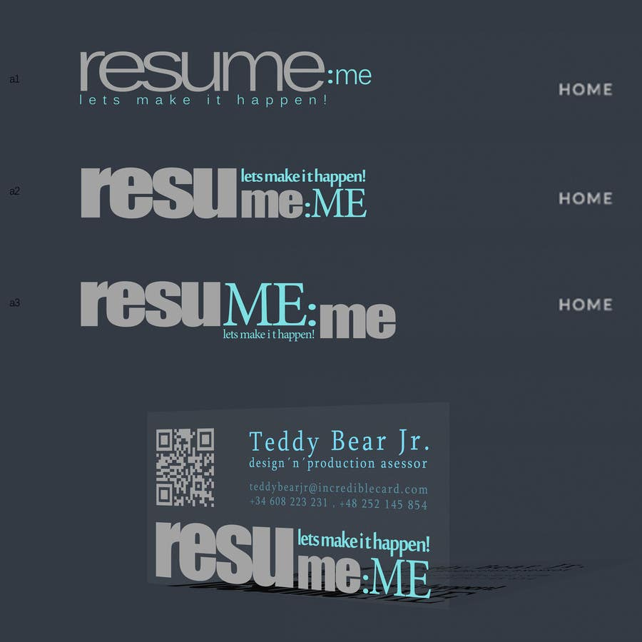 #11 for Logo and Business Card for Resume:Me by simpleform