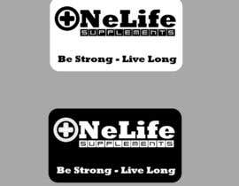 #8 untuk Design a Logo for a custom supplement brand: OneLife Supplements- TagLine Live Long oleh escadrill