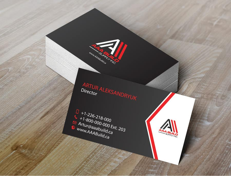 Entry #108 by Wperm for Design Business Card For AAA Build Supply ...