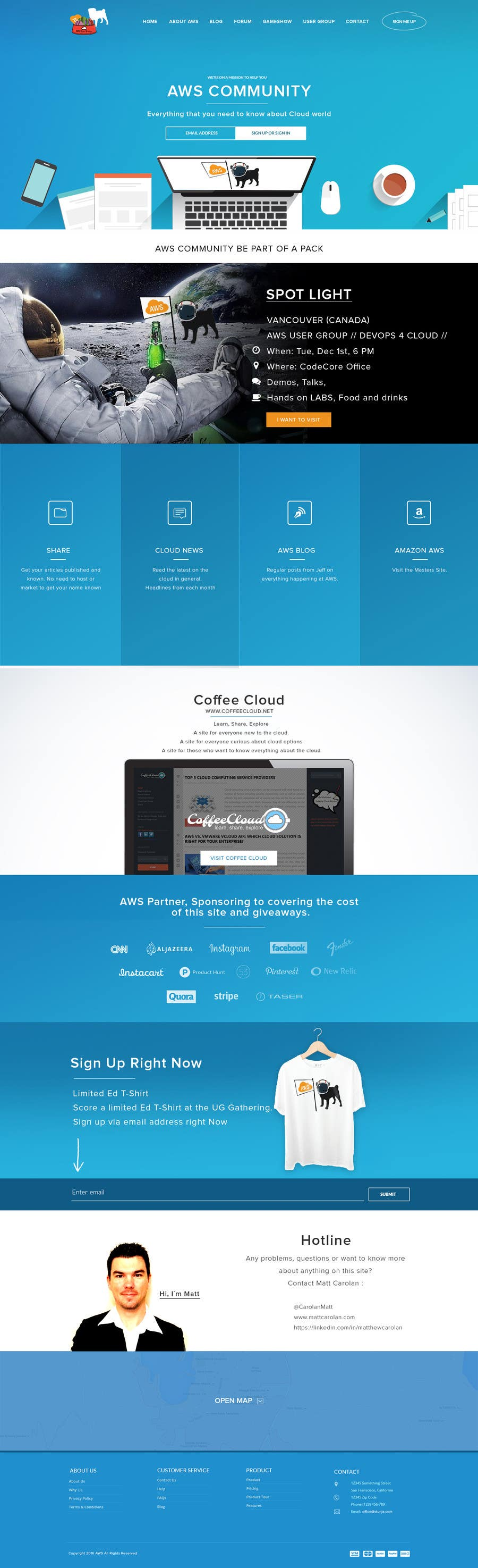 Not Functional Design Website Mockup