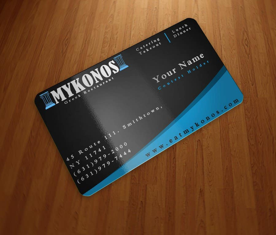 #12 for Design some Business Cards for Mykonos Greek Restaurant by inangmesraent
