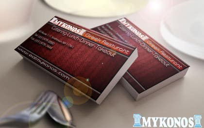 Graphic Design Contest Entry #15 for Design some Business Cards for Mykonos Greek Restaurant