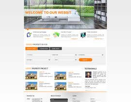 nº 34 pour Design a Website Mockup for Property Site par alimoon138