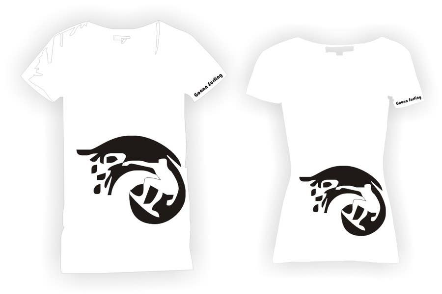 #23 for SURFER + BEACH = 2 DESIGN (male/female) FOR T-SHIRTS by rinorakurhasku