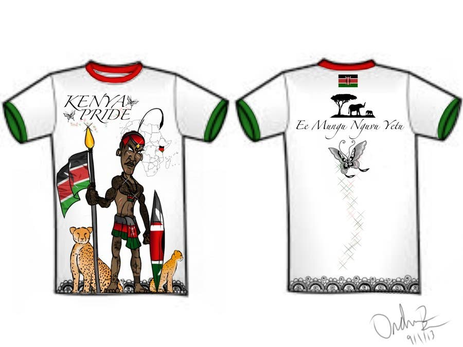Bài tham dự cuộc thi #27 cho t-shirt design based on the theme of Kenyan flag