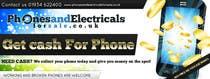 Graphic Design Entri Peraduan #54 for Design a Banner for Phonesandelectricalsforsale.co.uk
