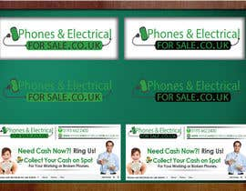 #6 untuk Design a Banner for Phonesandelectricalsforsale.co.uk oleh OnpointJamie