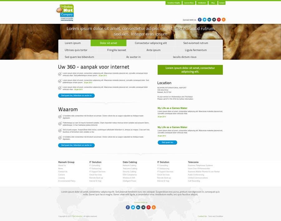 #20 for Design a website frontpage mockup (Wordpress) by snali