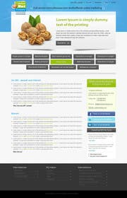 kreativeminds tarafından Design a website frontpage mockup (Wordpress) için no 15