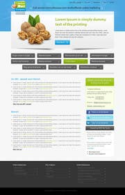 kreativeminds tarafından Design a website frontpage mockup (Wordpress) için no 28