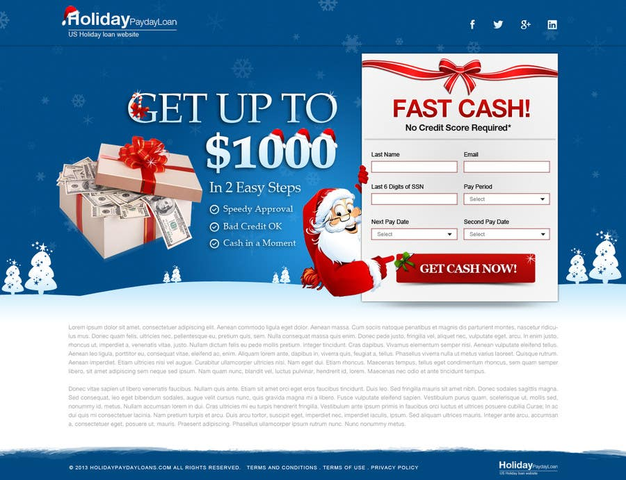 Penyertaan Peraduan #34 untuk Design Landing Page #1 Shopping Product In 2013 Shopping Season In USA... Can you design better than Santa Claus?