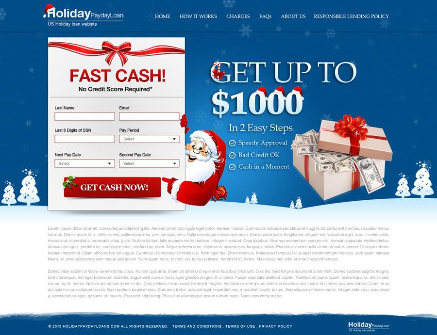 #48 for Design Landing Page #1 Shopping Product In 2013 Shopping Season In USA... Can you design better than Santa Claus? by herick05