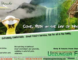 #2 para Design a Advertisment for Udzungwa Forest Tented Camp por utrejak