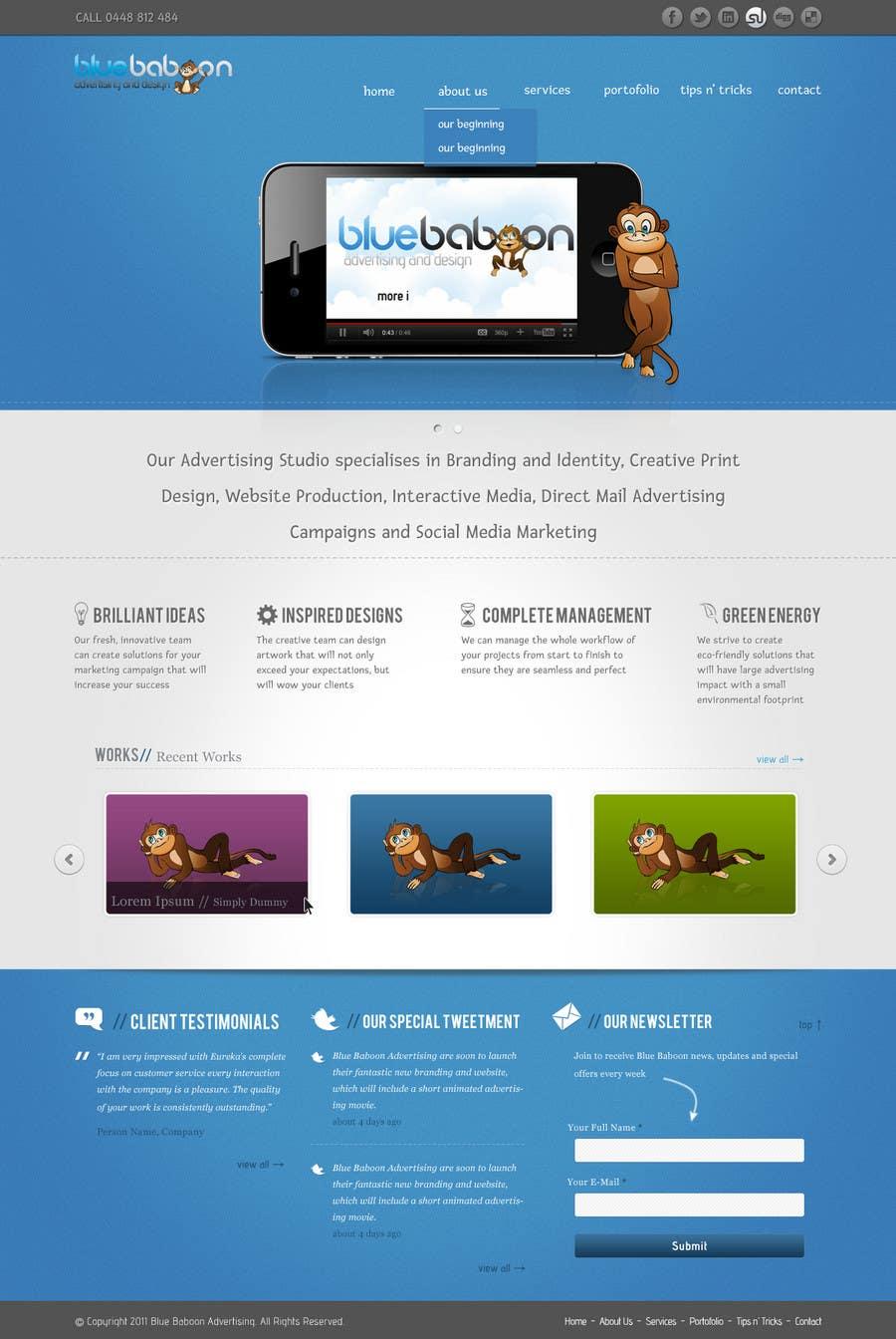 Inscrição nº                                         39                                      do Concurso para                                         Wordpress Theme Design for Blue Baboon Advertising