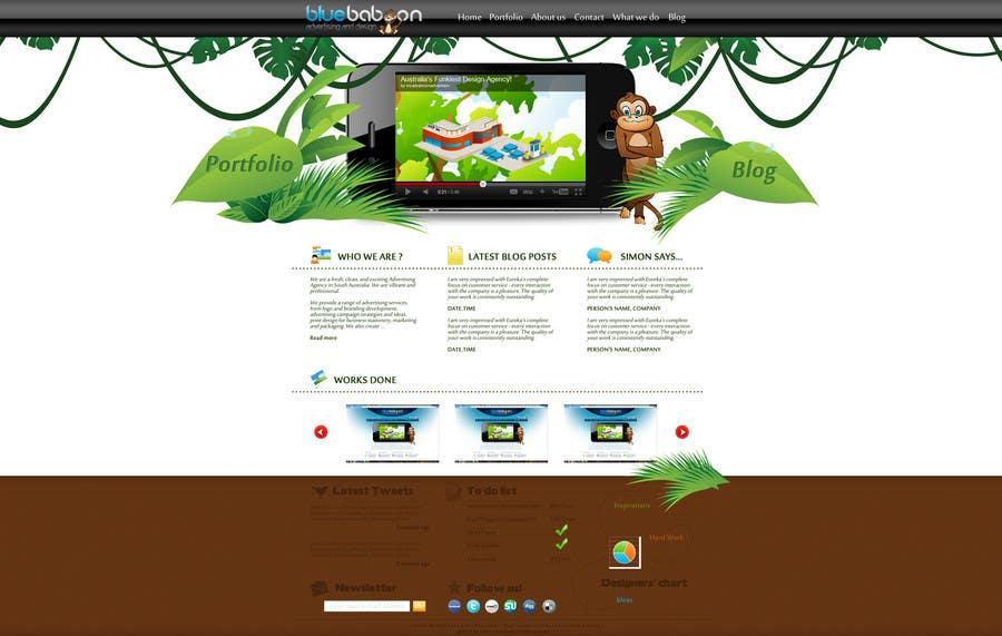 Inscrição nº                                         14                                      do Concurso para                                         Wordpress Theme Design for Blue Baboon Advertising