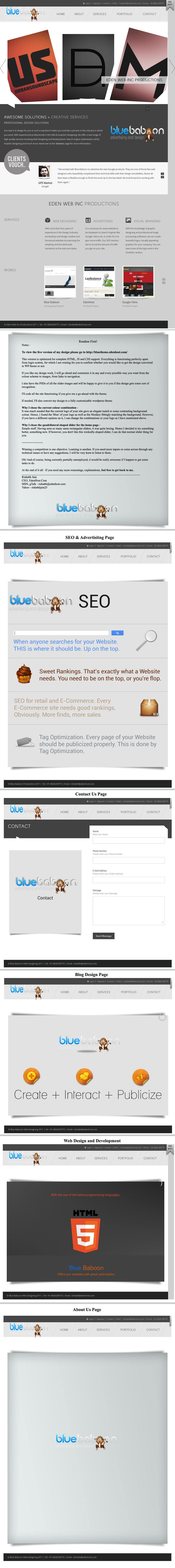 Inscrição nº                                         47                                      do Concurso para                                         Wordpress Theme Design for Blue Baboon Advertising