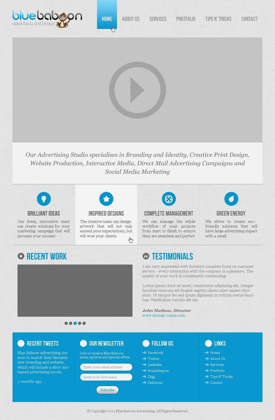 Inscrição nº                                         38                                      do Concurso para                                         Wordpress Theme Design for Blue Baboon Advertising
