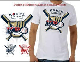 #9 para Design a T-Shirt for a Korean baseball website por roman230005