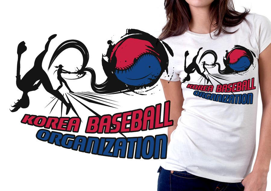 #24 for Design a T-Shirt for a Korean baseball website by mckirbz