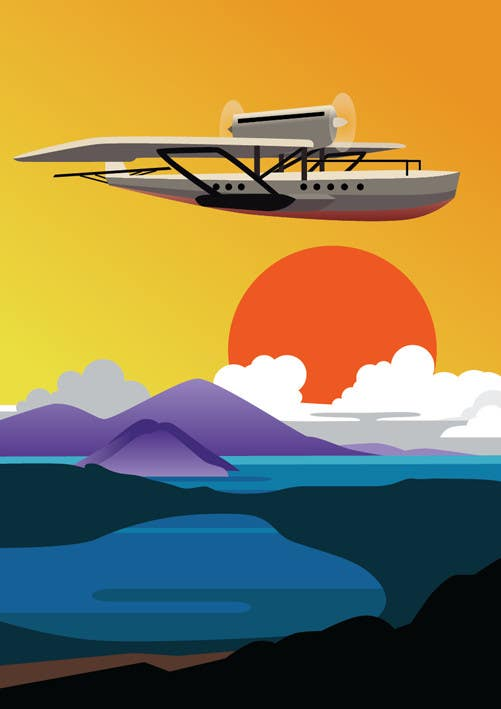 #6 for Design retro travel poster by sophialotus
