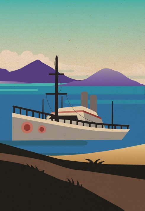 #19 for Design retro travel poster by sophialotus