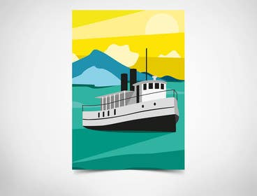 #10 for Design retro travel poster by YMteam