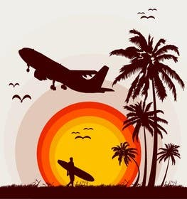 #1 for Design retro travel poster by rameezkhan2234