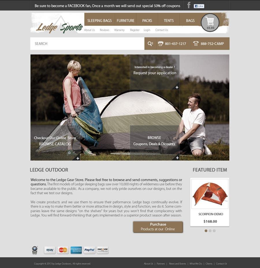 Konkurrenceindlæg #24 for Design a Website Mockup for Ledge Sports
